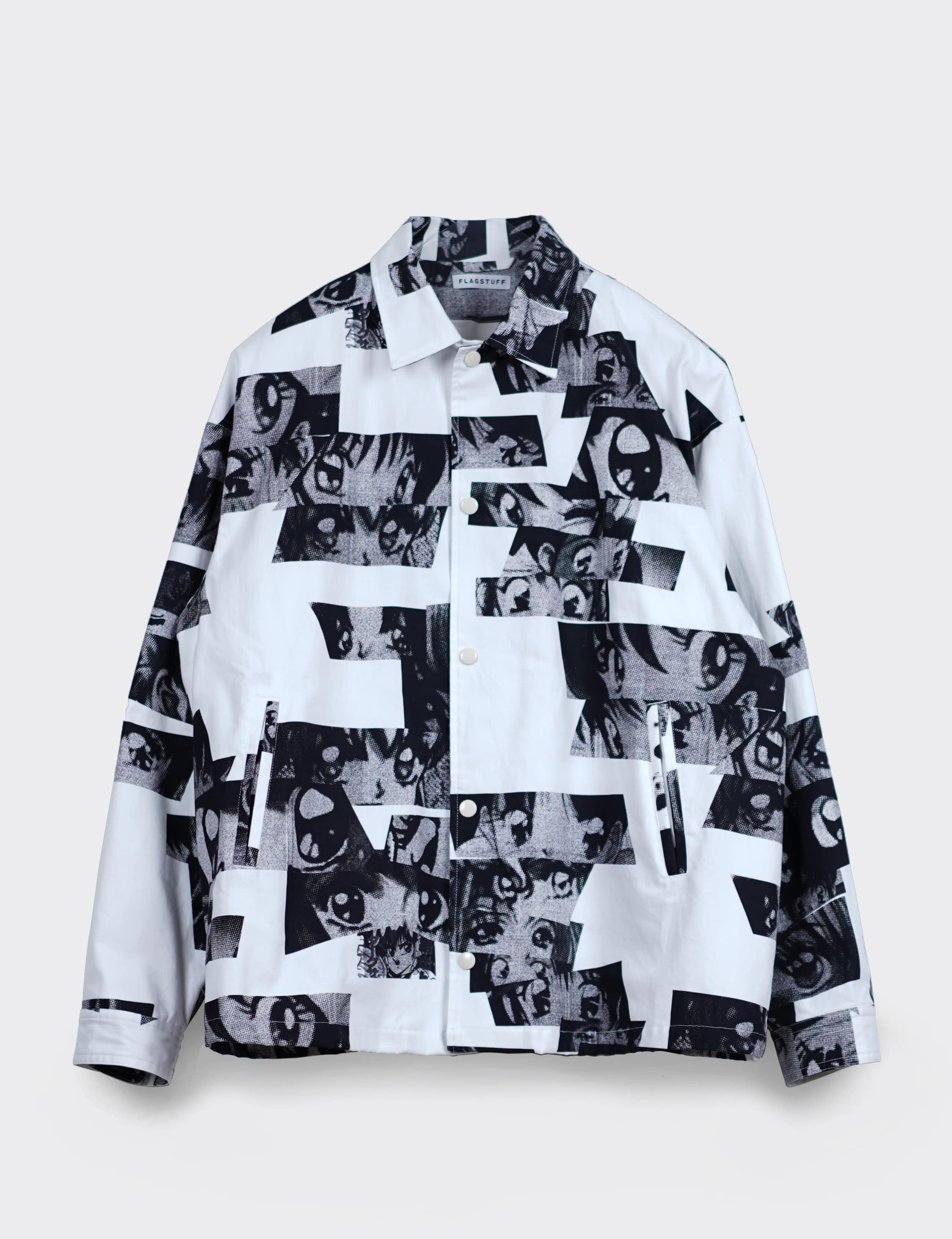 """Eye"" COACH JACKET (WHITE)"