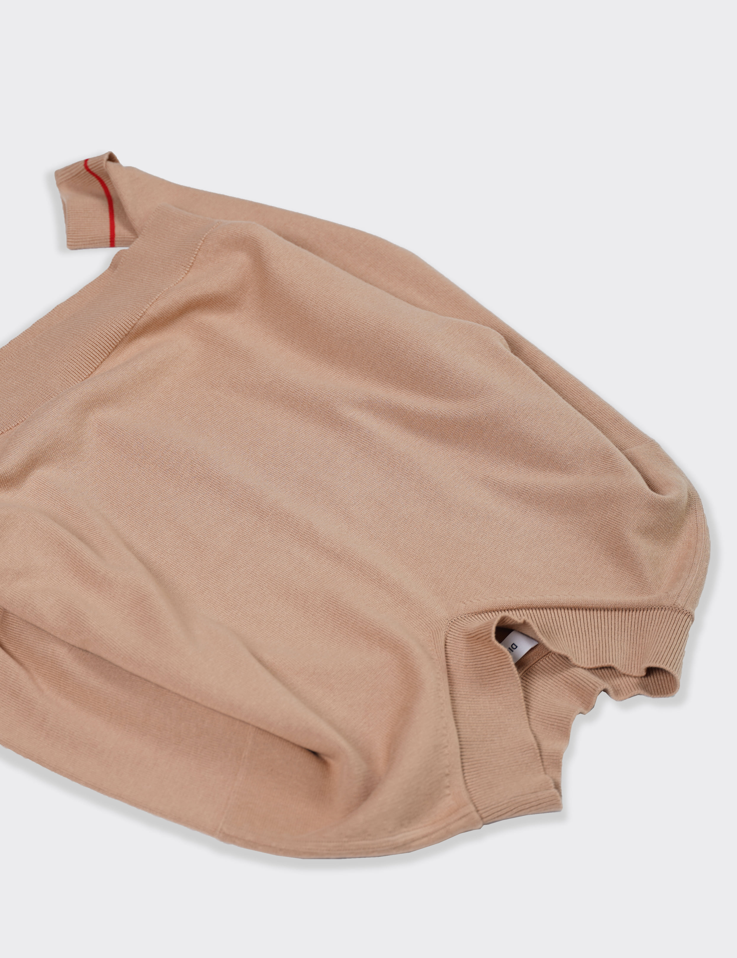 DIGAWEL : V-NECK SWEATER (CAMEL)