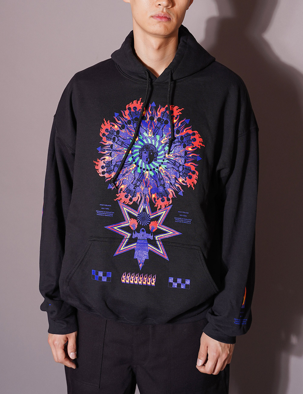 DEAD FEELINGS : PRINTED HOODY (BLACK)