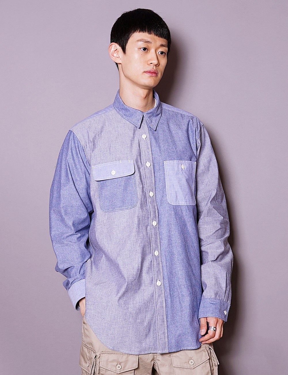 Engineered Garments WORKDAY : UTILITY SHIRT (BLUE)