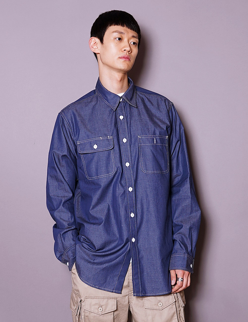 Engineered Garments WORKDAY : UTILITY SHIRT (NAVY)