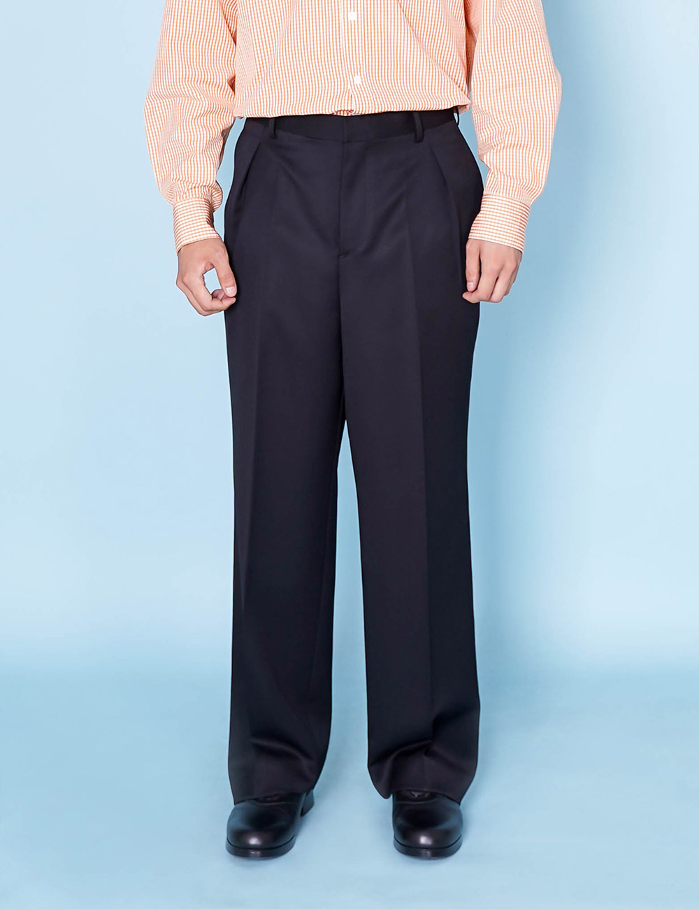 DIGAWEL : INTUCK PANTS① (BLACK)