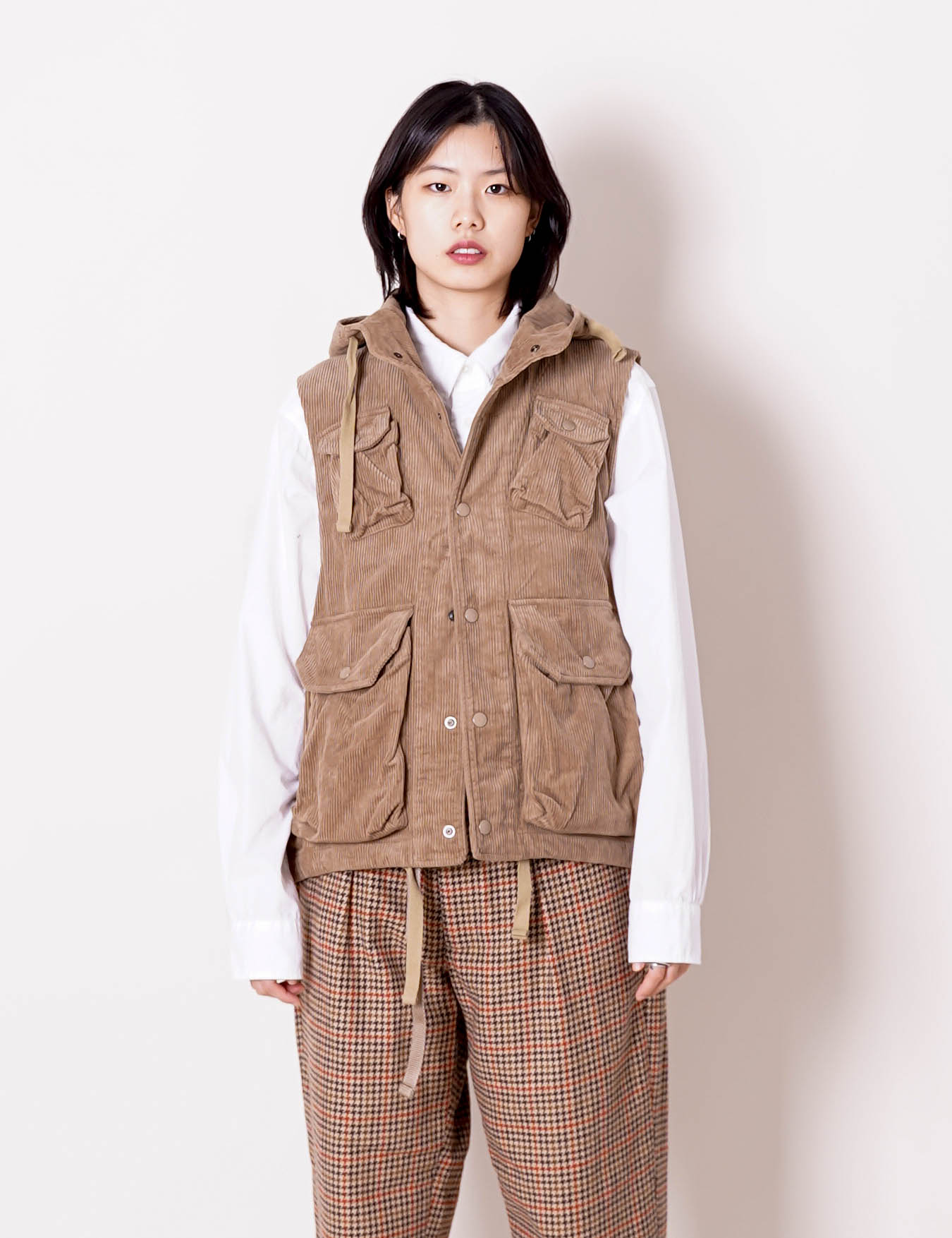 Engineered Garments : FIELD VEST (KHAKI)