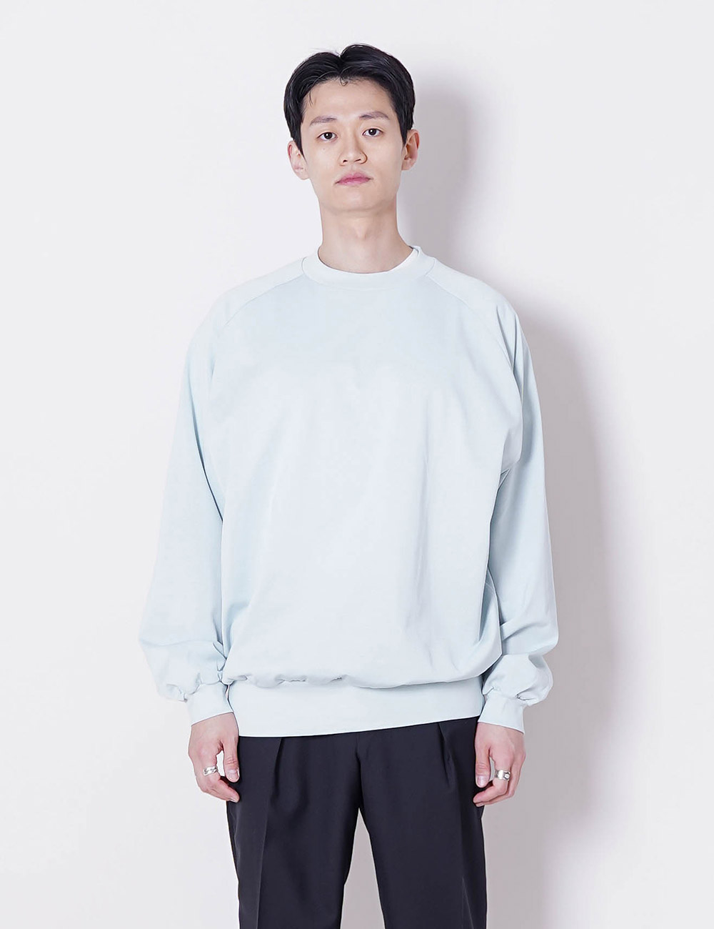 marka : COTTON KNIT CREW NECK L/S T-SHIRT (MINT GREEN)