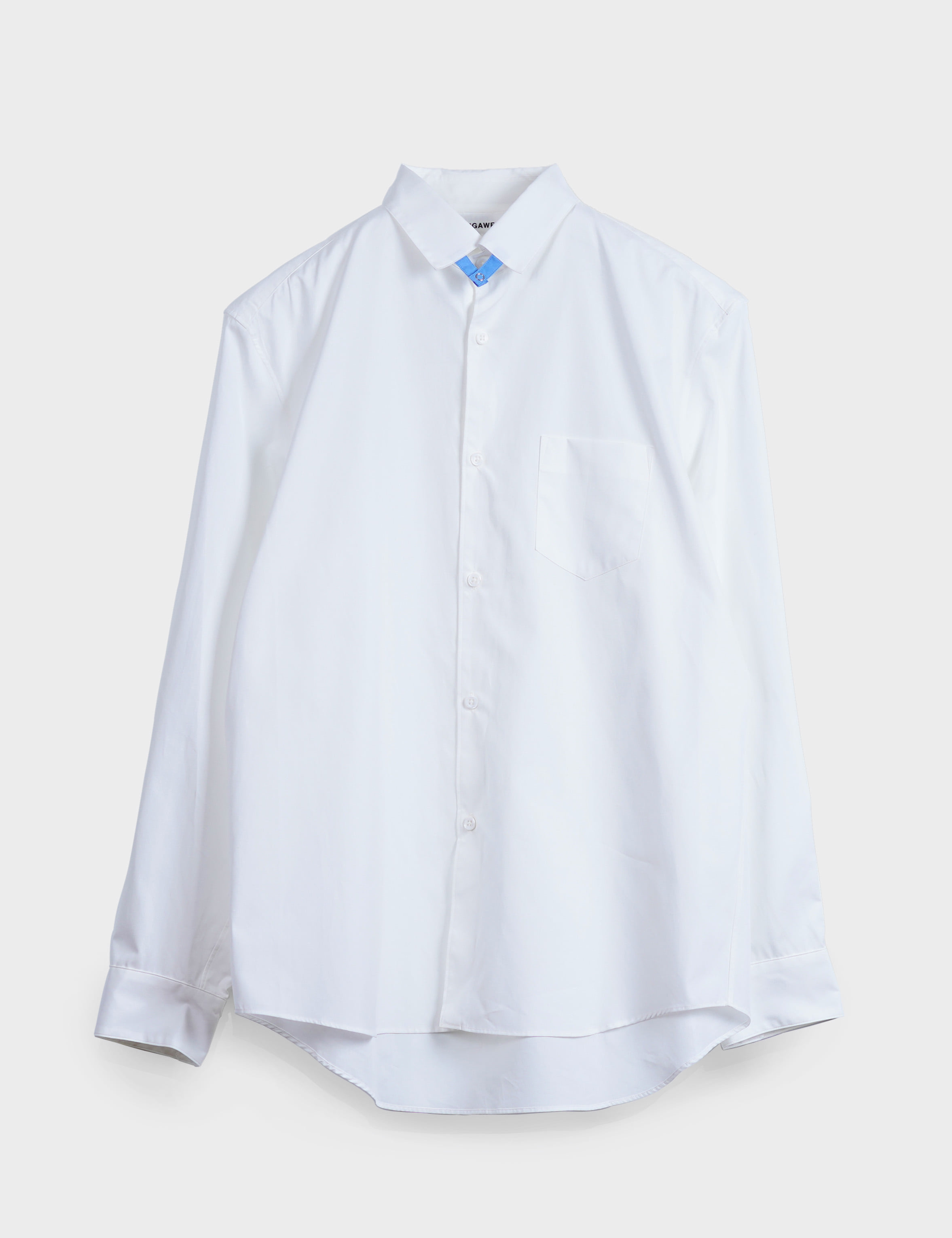 TAB COLLAR SHIRT (WHITE)