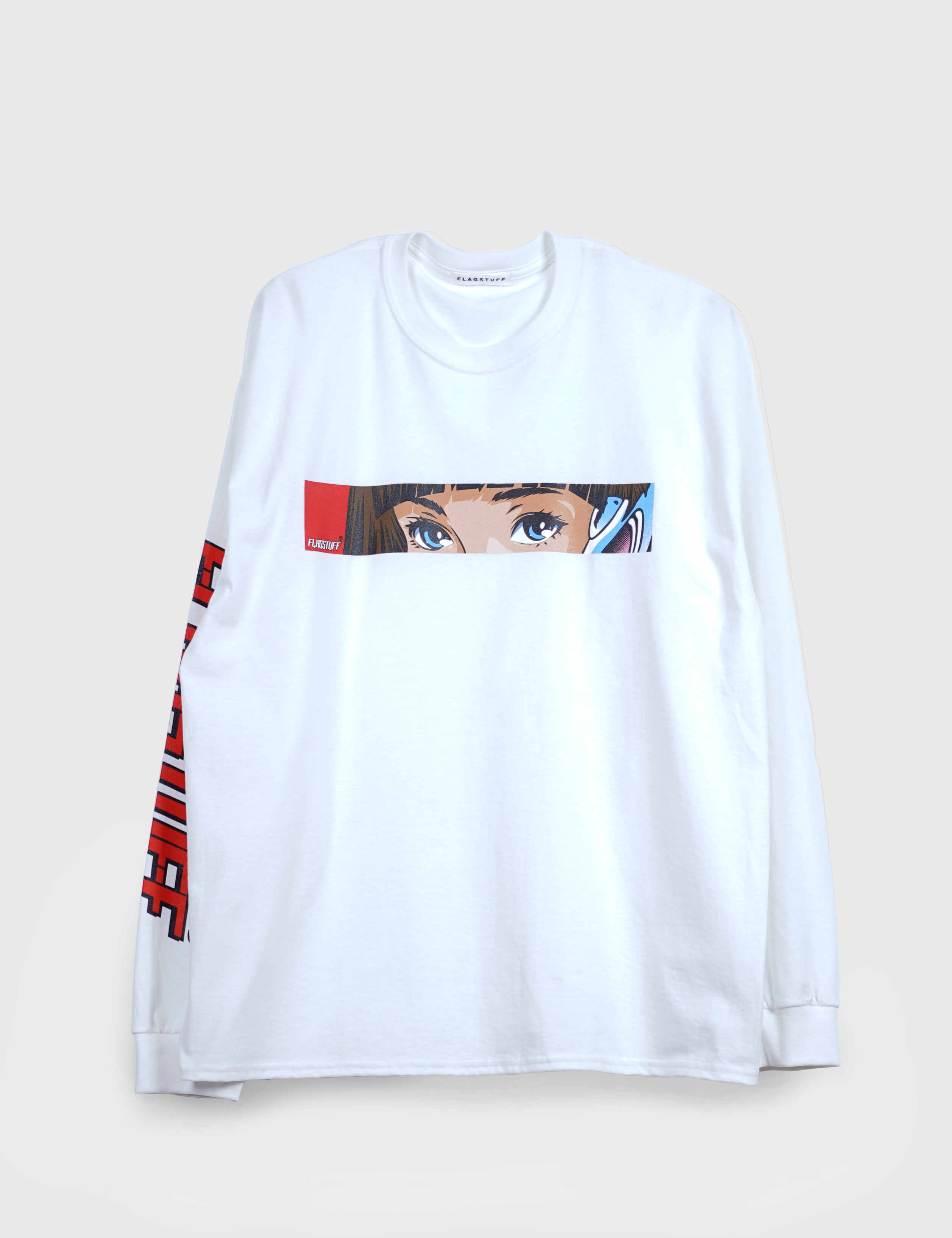 """Dream and reality"" L/S Tee (WHITE)"