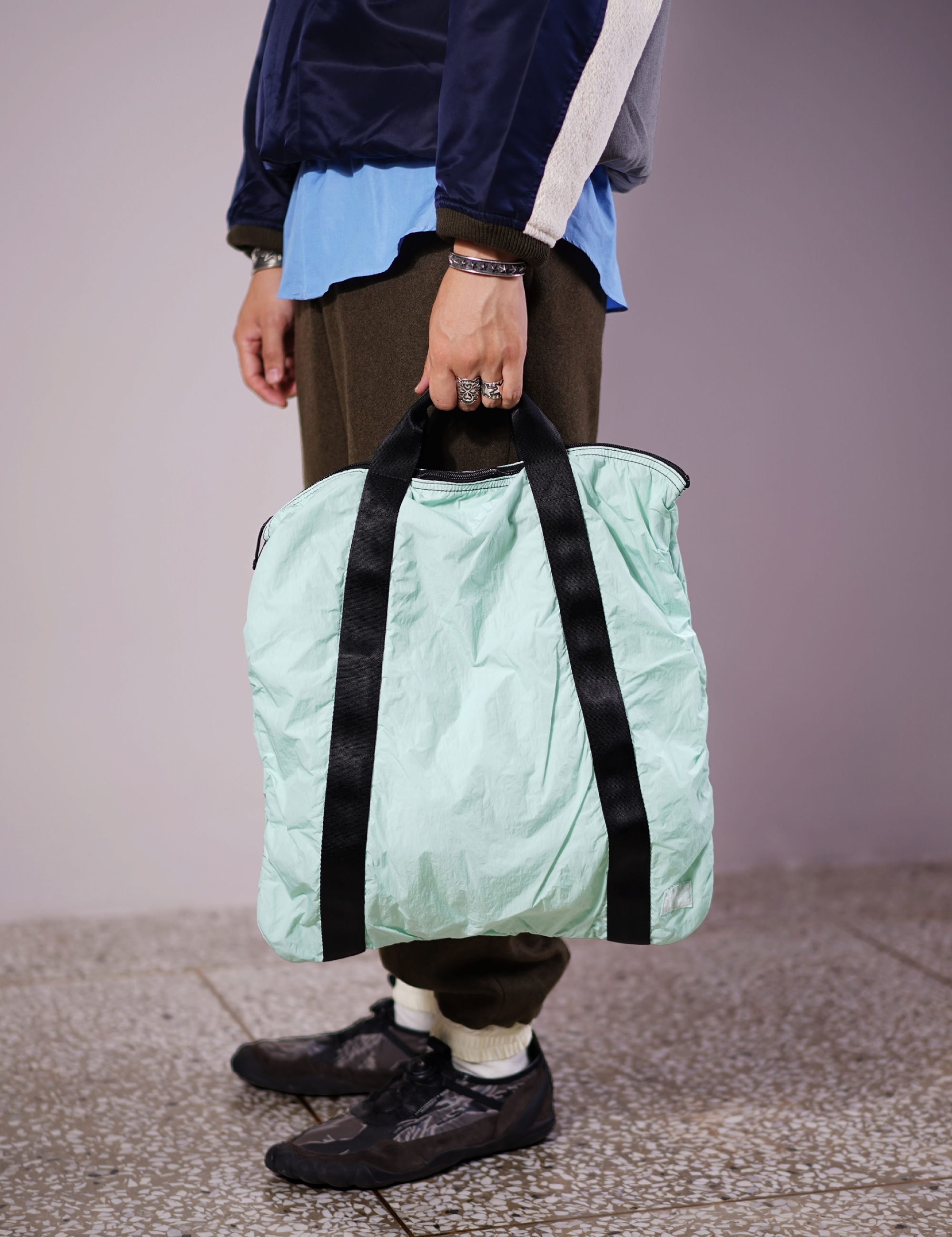 PACKABLE TOTE BAG (MINT)