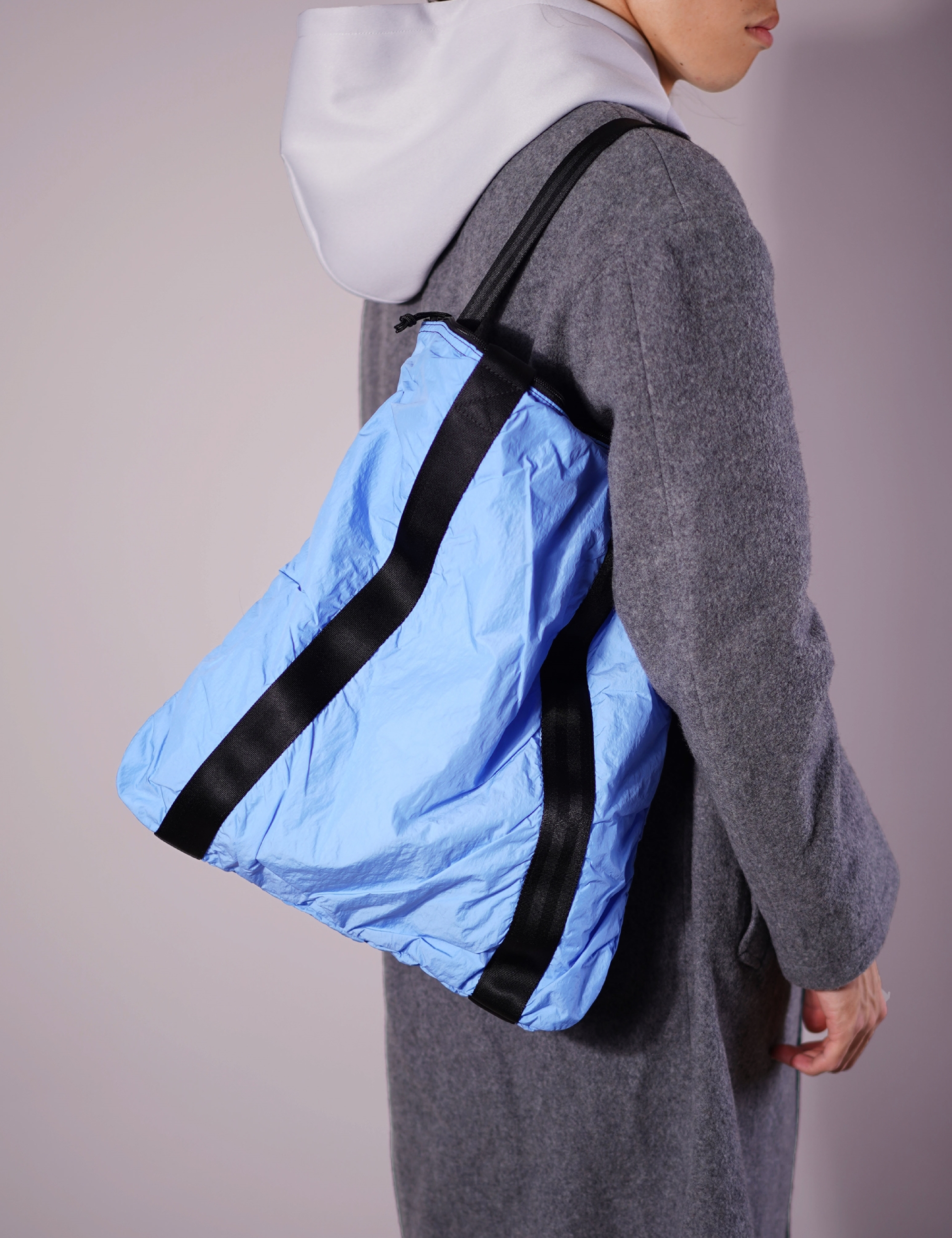 PACKABLE TOTE BAG (L.BLUE)