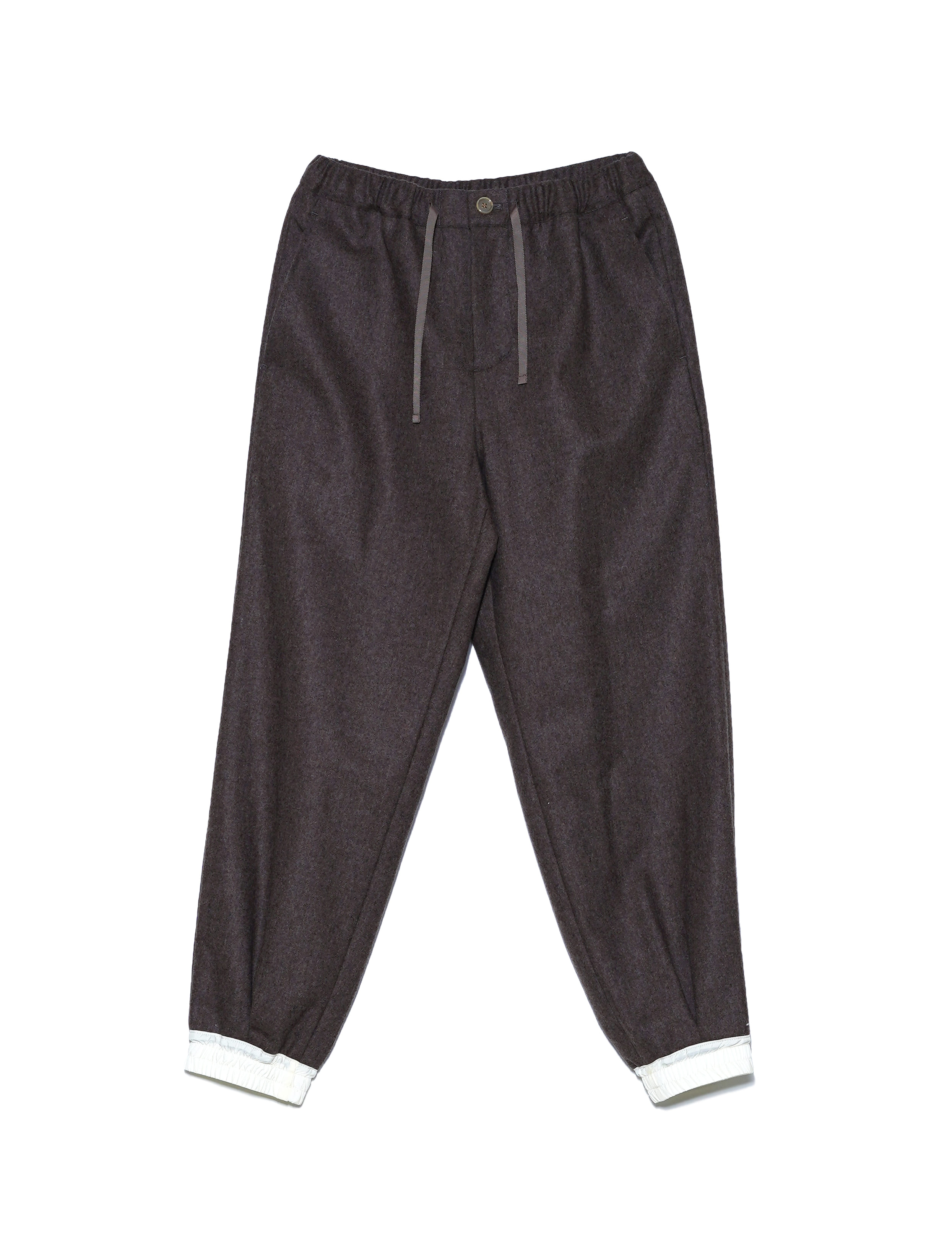 WOOL EASY PANTS (BROWN)