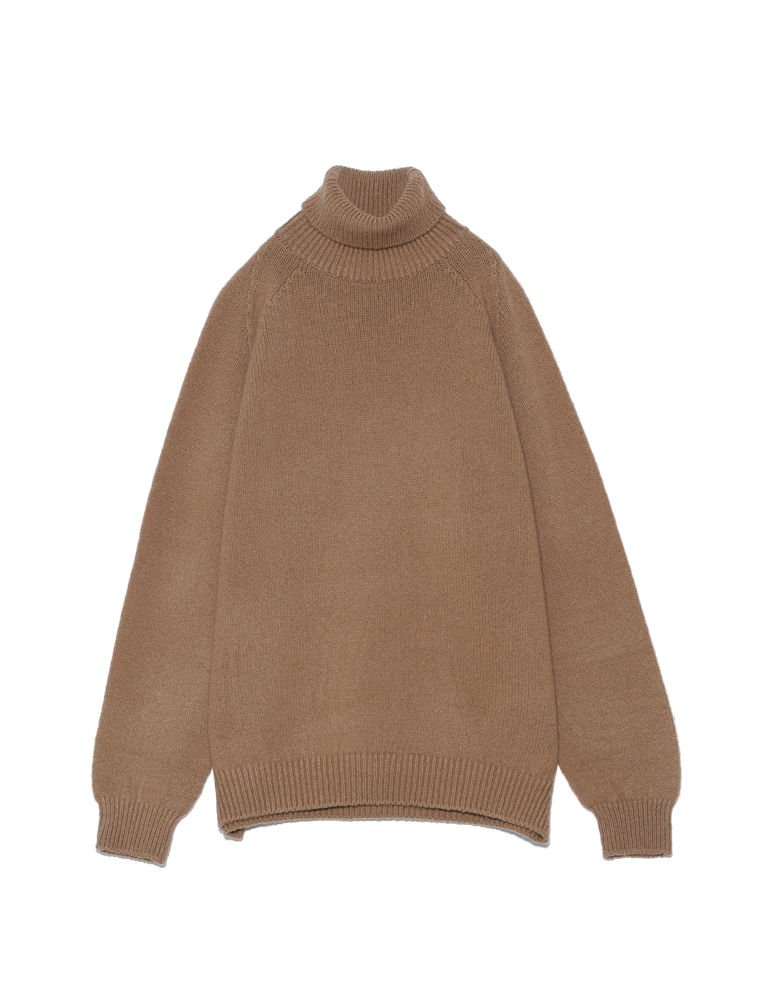 WHOLEGARMENT TURTLE-NECK (CAMEL)