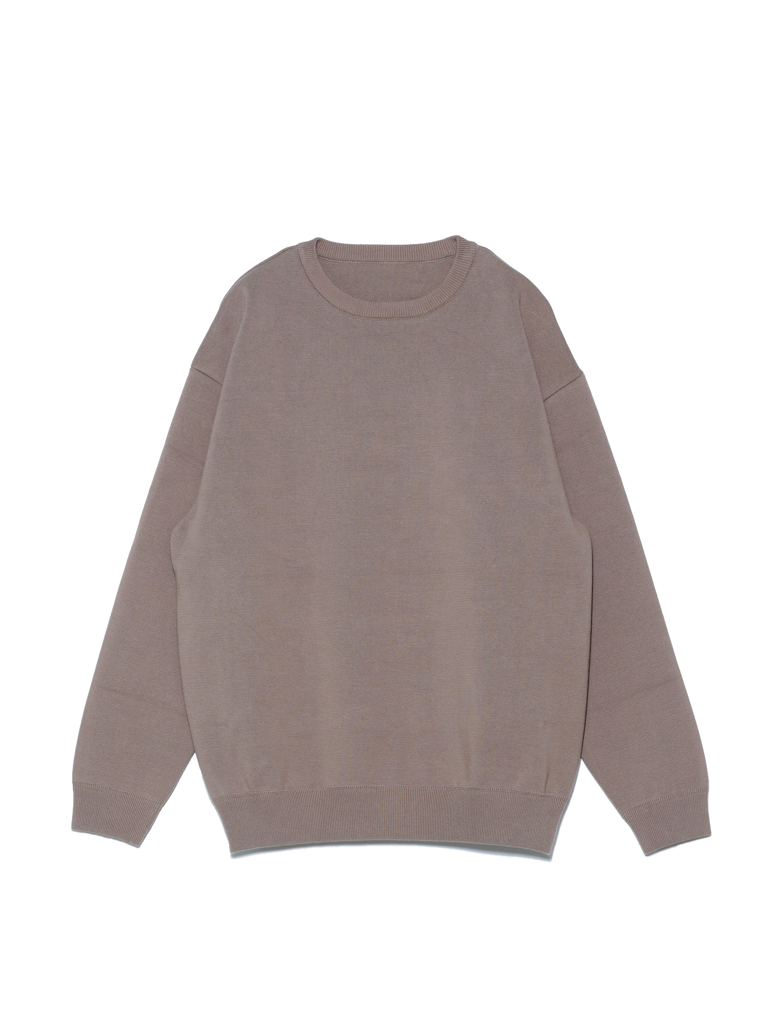 MILANO RIB CREWNECK P/O (BROWN)