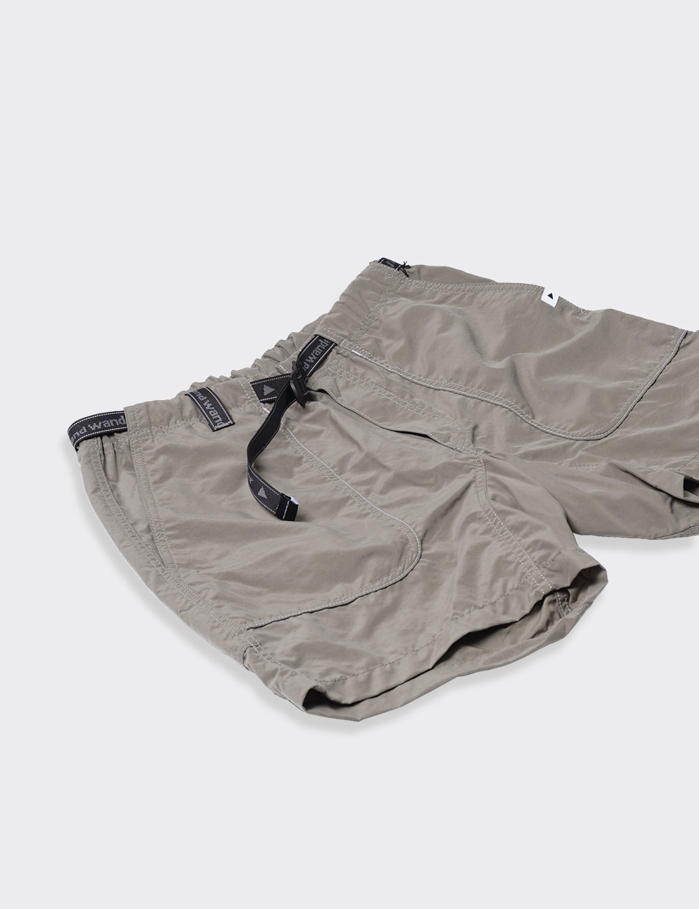 and wander : NYLON CLIMBING SHORT PANTS (KHAKI)
