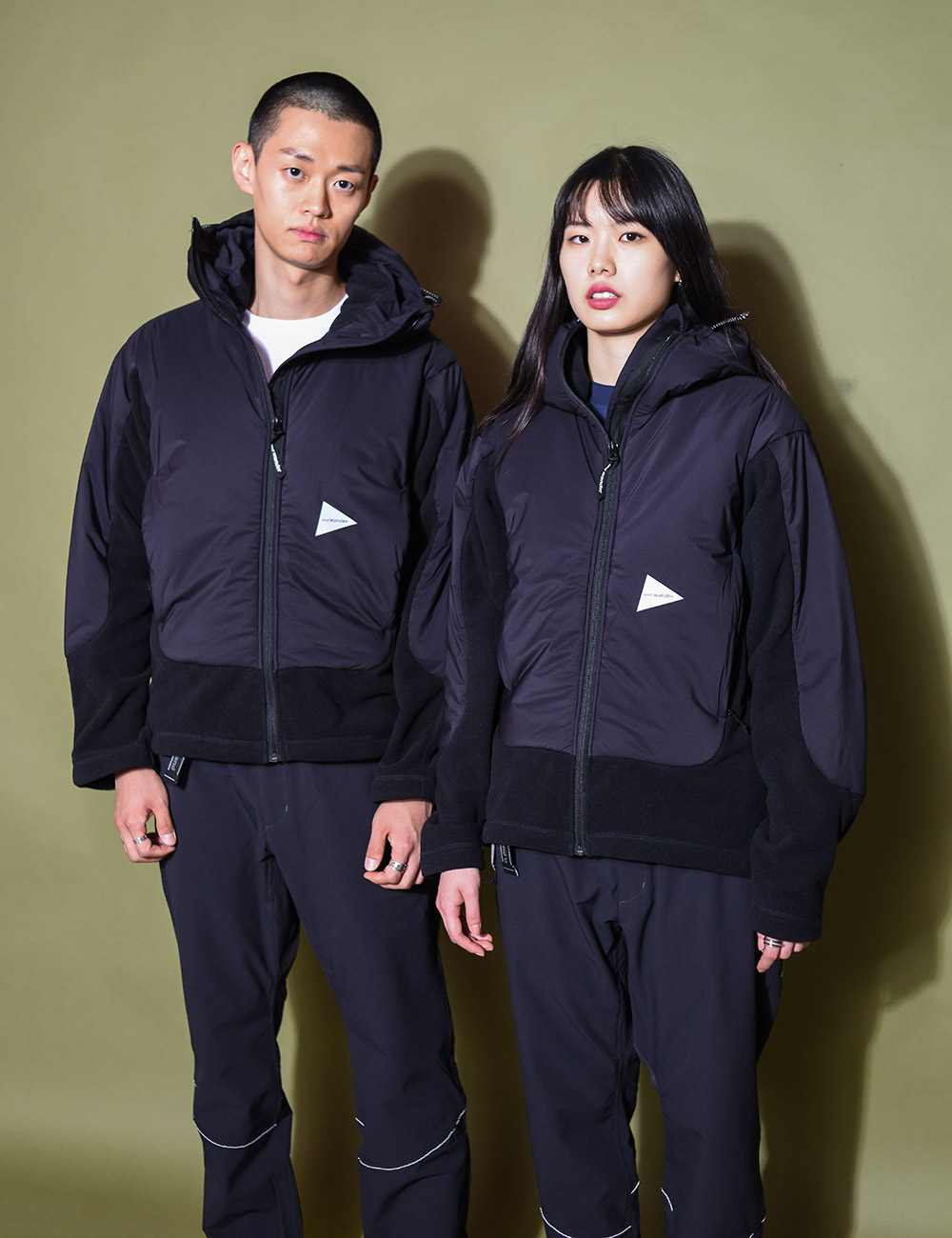 and wander : TOP FLEECE JACKET (BLACK)