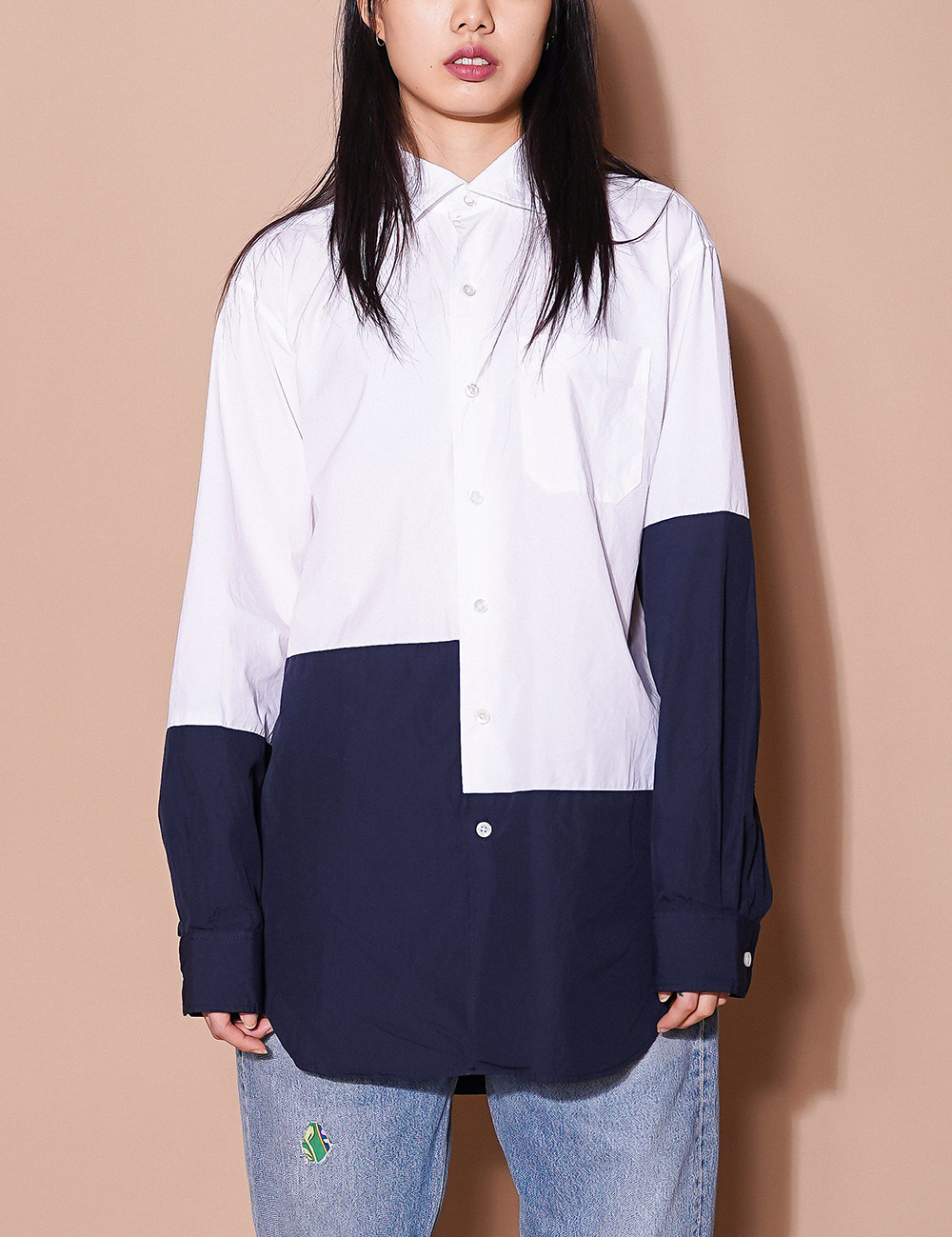 Engineered Garments : SPREAD COLLAR SHIRTS (WHITE)