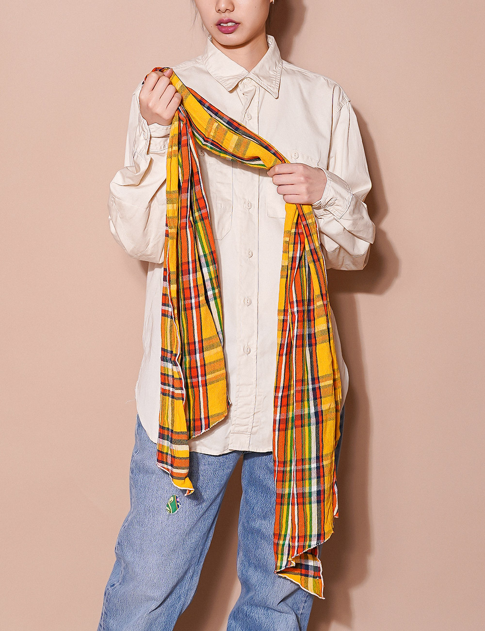 Engineered Garments : LONG SCARF (YELLOW)