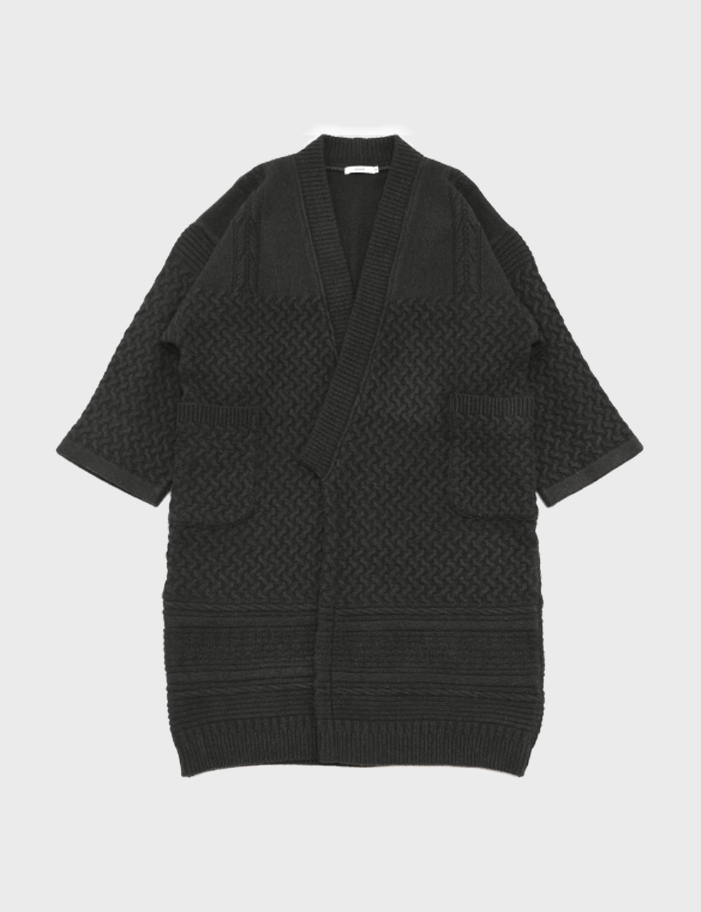 YASHIKI : TSUKIMI KNIT COAT (BLACK)
