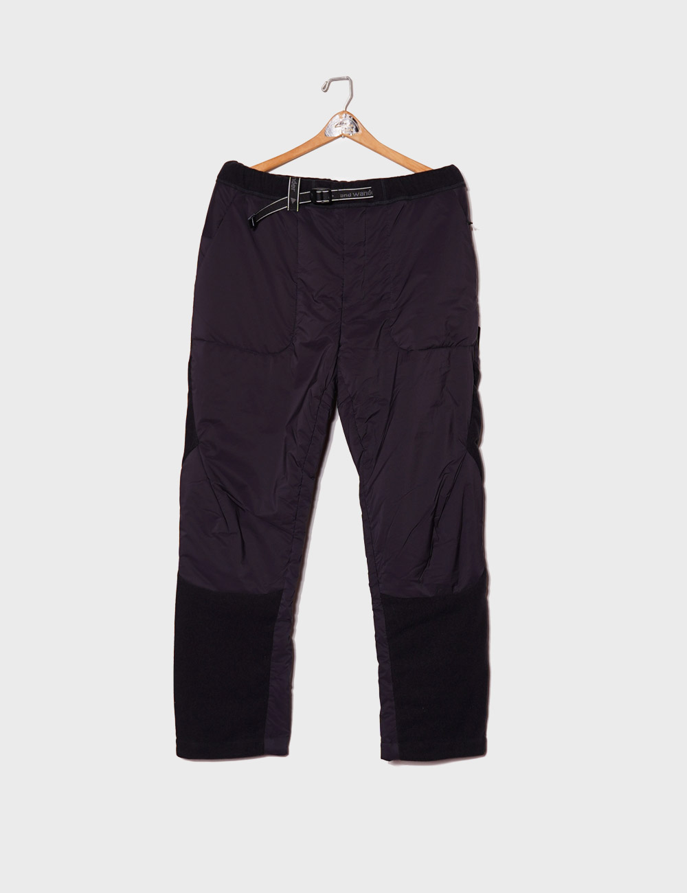 and wander : TOP FLEECE PANTS (BLACK)