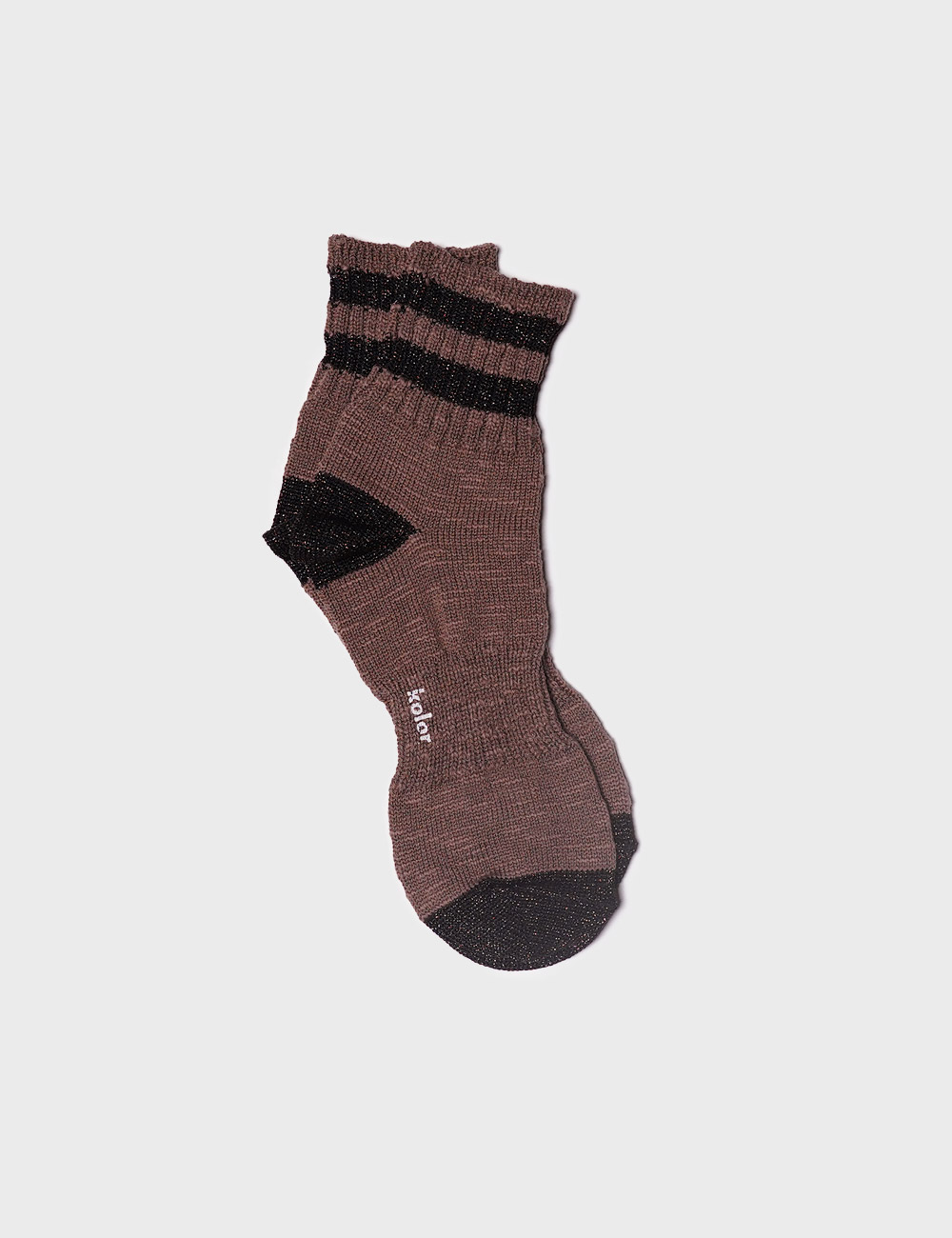 kolor : STRIPE SOCKS (WALNUT)