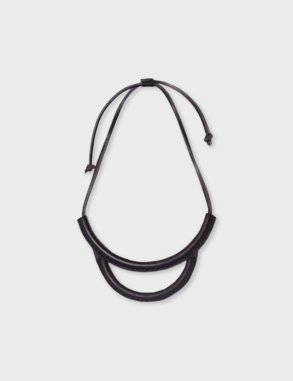 crescioni : ARC NECKLACE (BLACK)