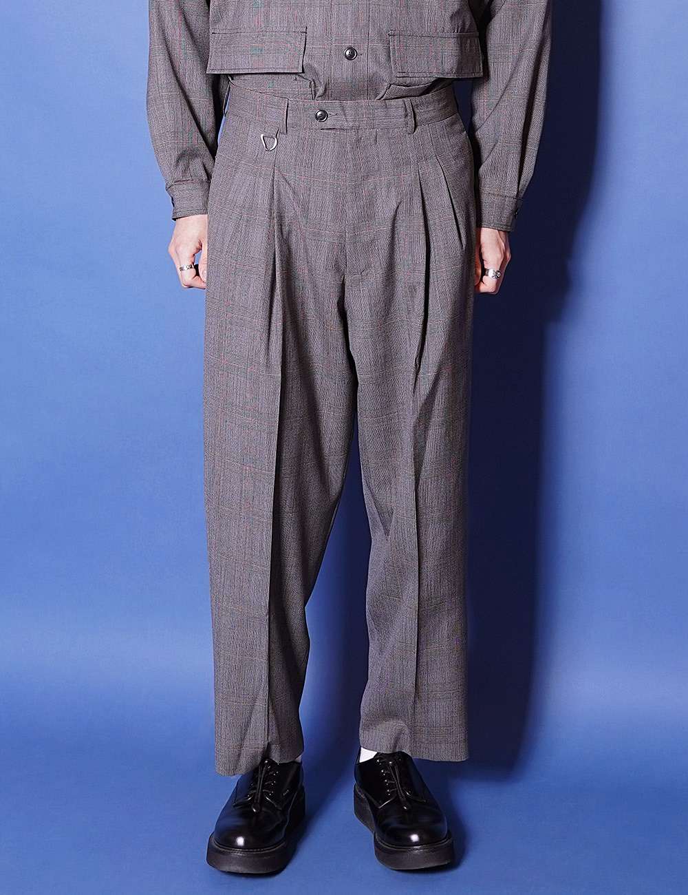 lownn : WIDE PANT (GREY CHECK)