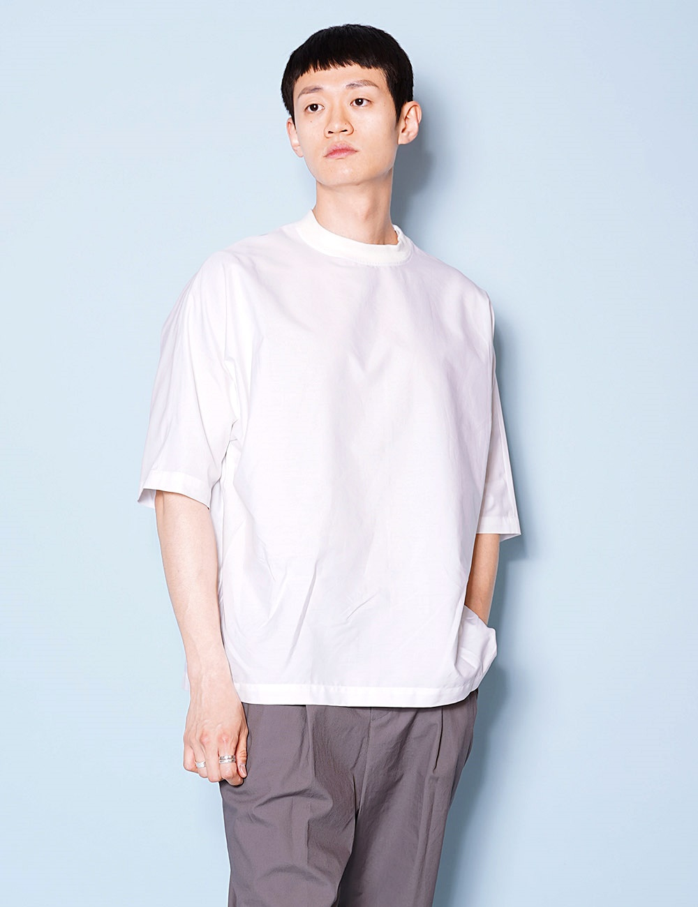 DIGAWEL : DOLMAN SLEEVE S/S PULLOVER (WHITE)