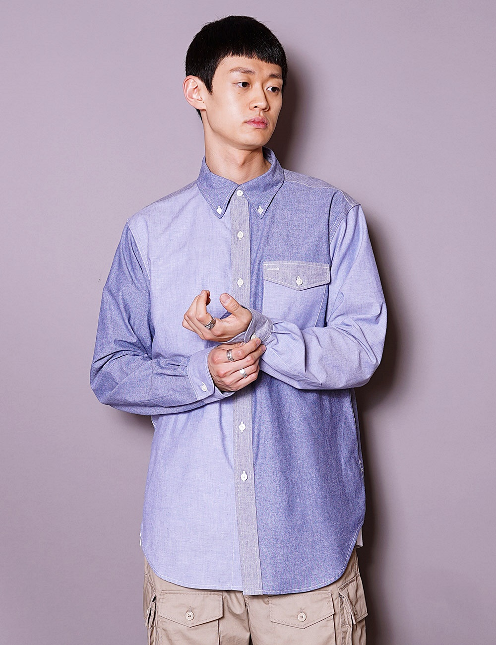 Engineered Garments Workaday : BD SHIRT (BLUE)