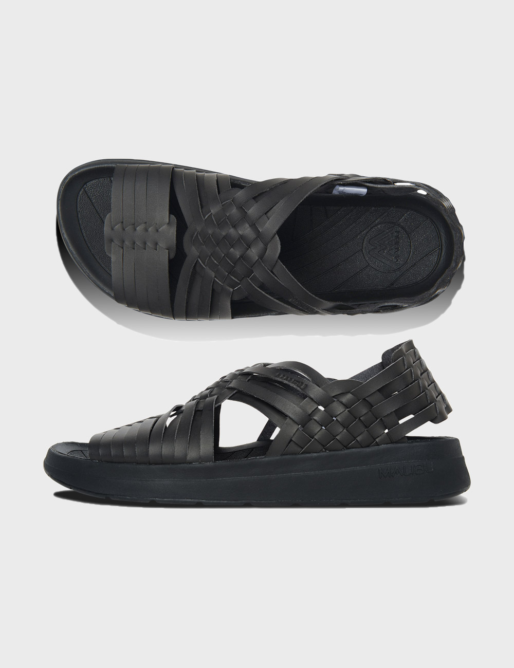 MALIBU : CANYON VEGAN LEATHER (BLACK/BLACK)
