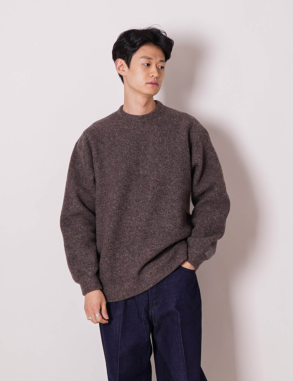 marka : WOOL SHIP PILE CREW NECK (TOP BROWN)