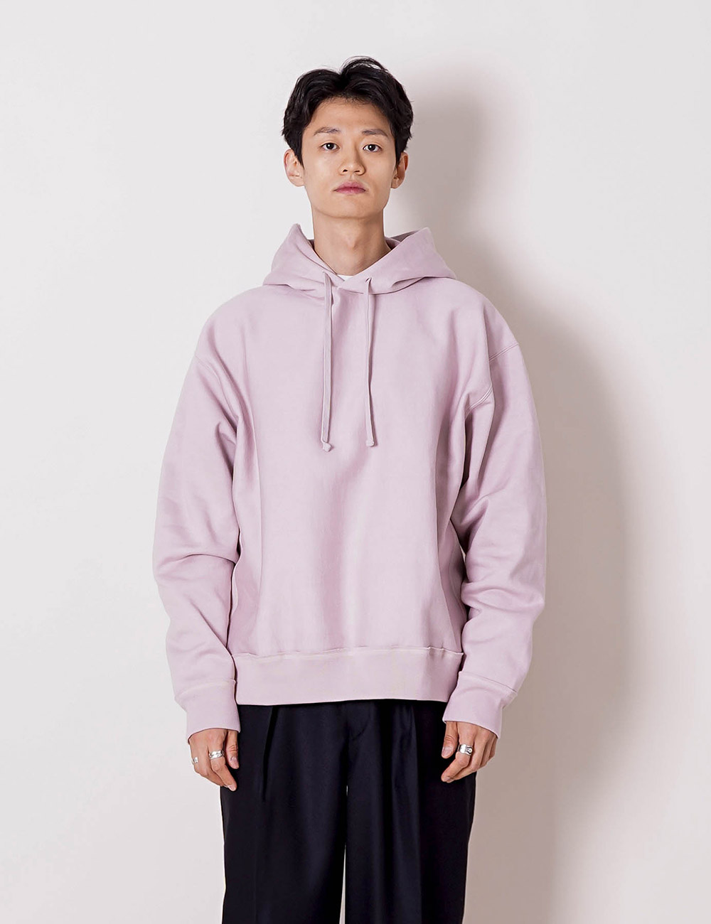 MARKAWARE : ORGANIC COTTON HEAVY SWITTZER REVERSE FLEECE HUGE PARKA (PINK)
