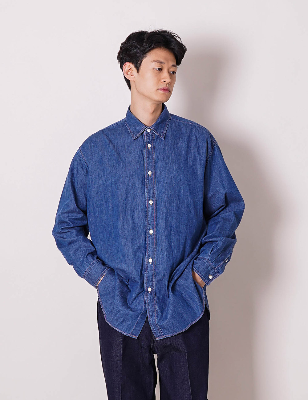 marka : 6oz ORGANIC COTTON DENIM SHIRT (INDIGO)