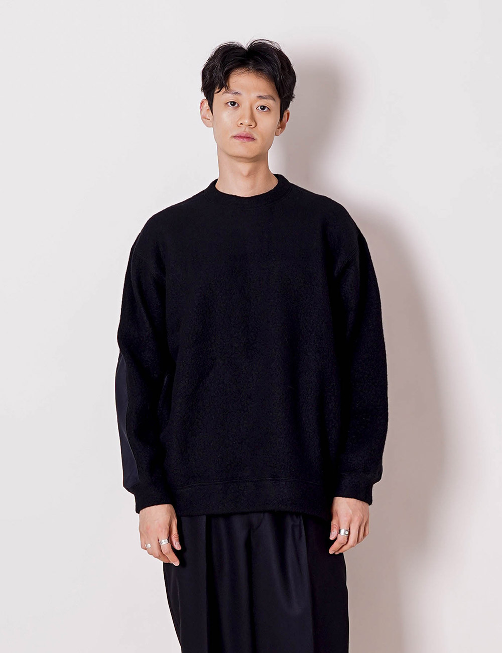 marka : WOOL SHIP PILE CREW NECK (BLACK)