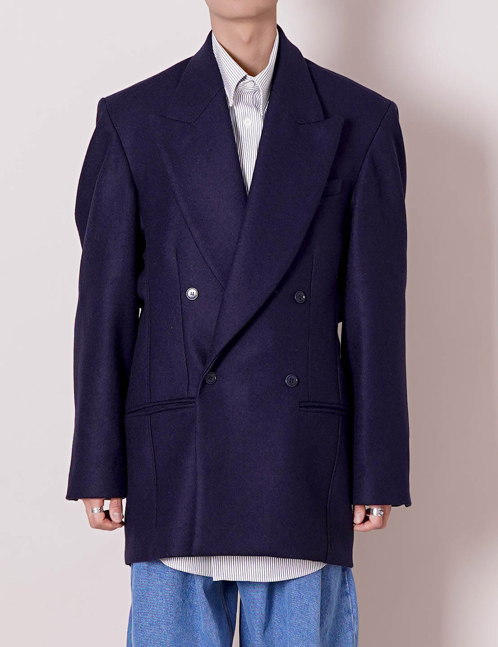 HED MAYNER : FALLING BACK DB JACKET (NAVY)