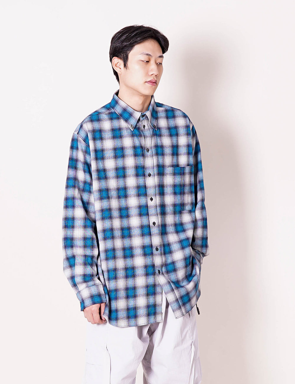 ESSAY : SH-01 BD BIG SHIRT (CHECK)
