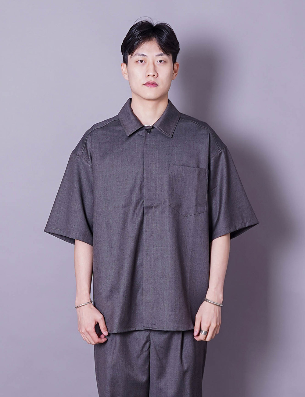 lownn : MINIMAL SHIRT MC (ICE BROWN)