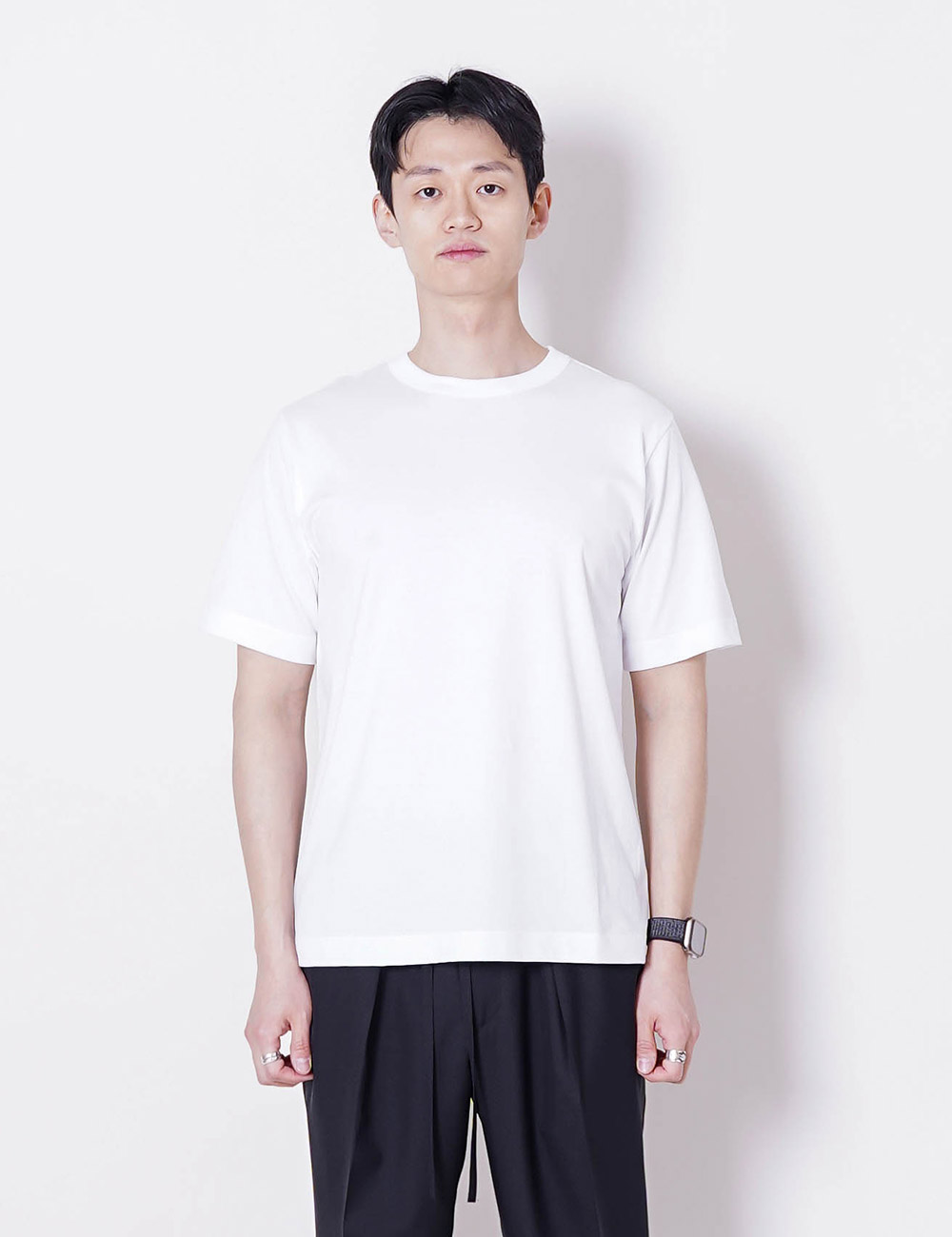 MARKAWARE : ORGANIC PIMA COMPACT YARN 60/2 32G KNIT REGULAR FIT TEE (WHITE)