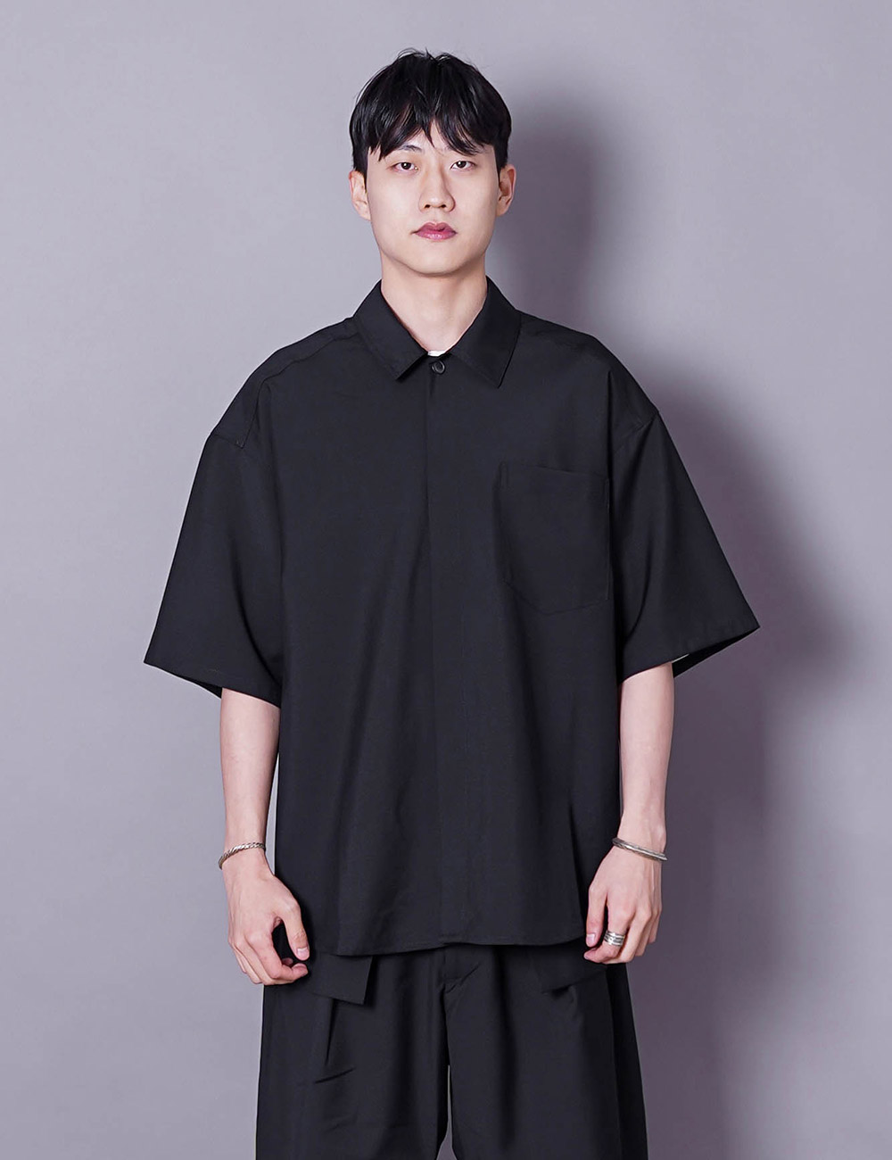 lownn : MINIMAL SHIRT MC (BLACK)