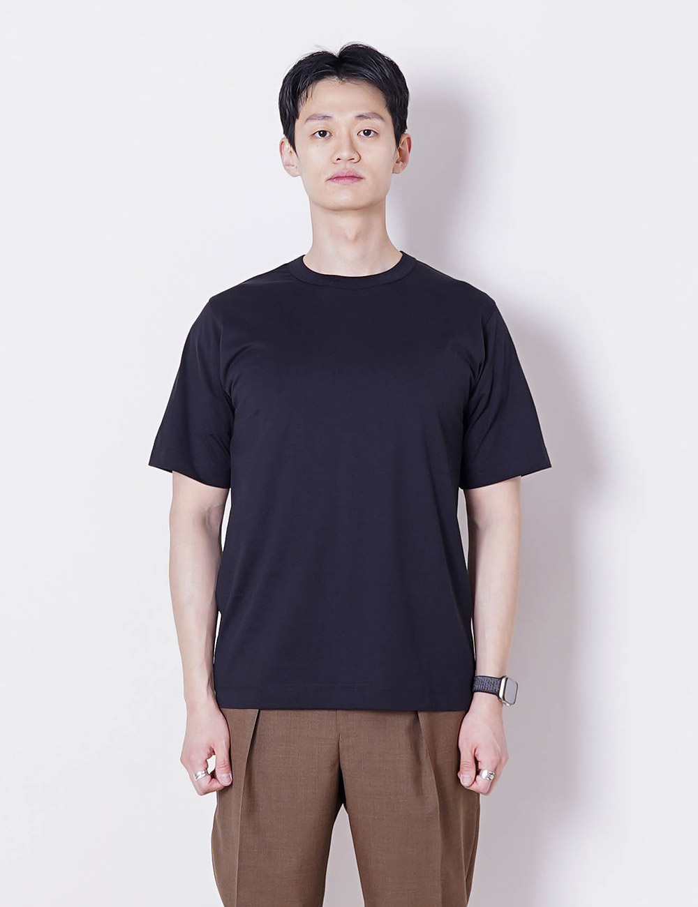 MARKAWARE : ORGANIC PIMA COMPACT YARN 60/2 32G KNIT REGULAR FIT TEE (BLACK)