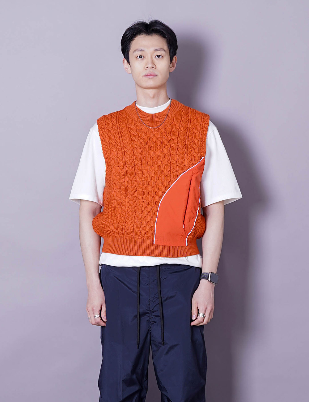 Robyn Lynch : KNIT VEST (ORANGE)