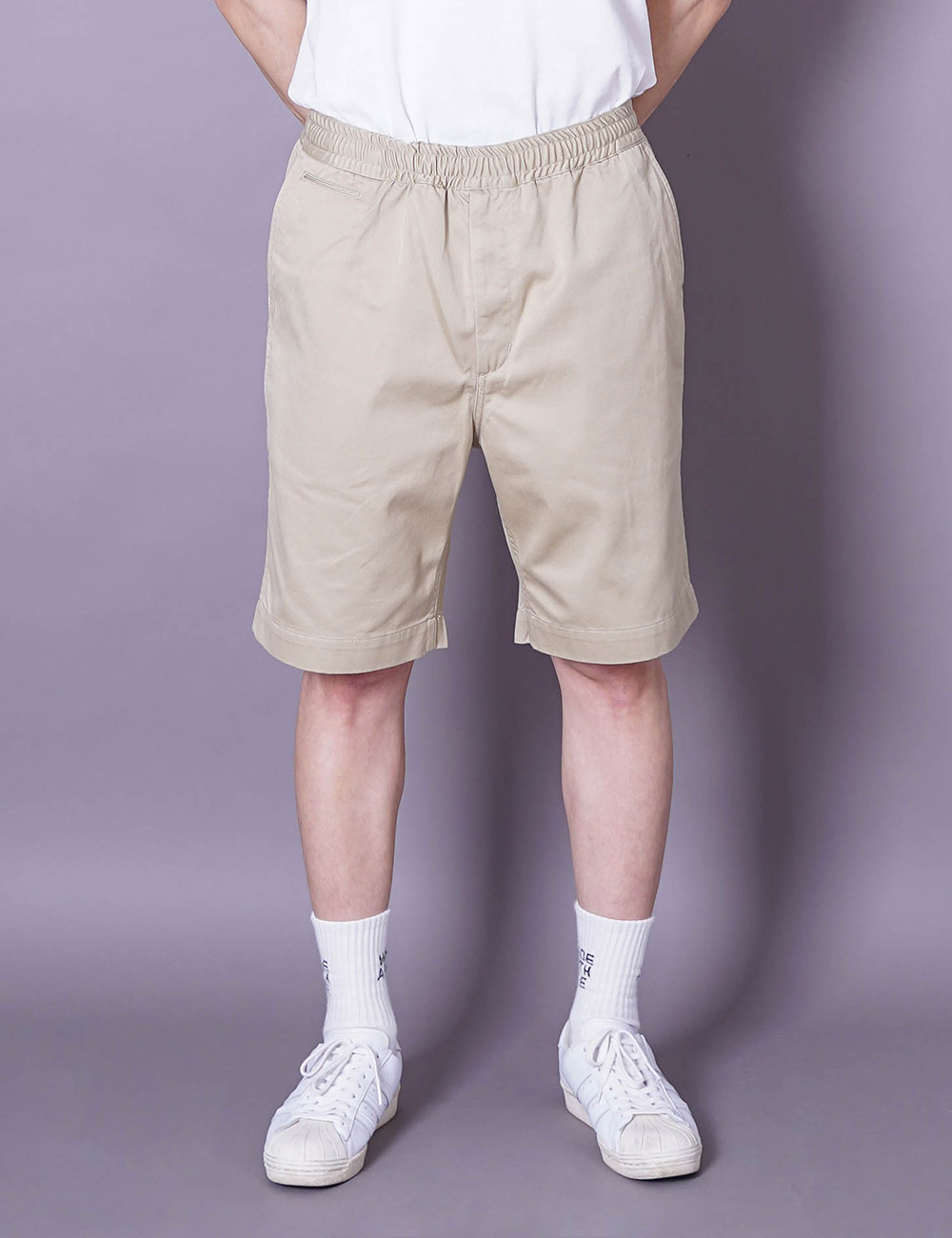 nanamica : EASY CHINO SHORTS (KHAKI)