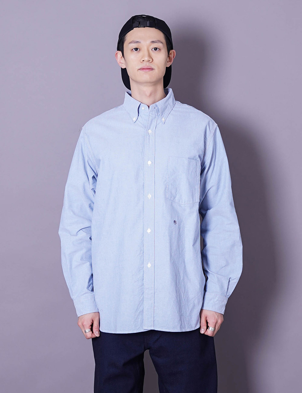 nanamica : BUTTON DOWN WIND SHIRT (BLUE)