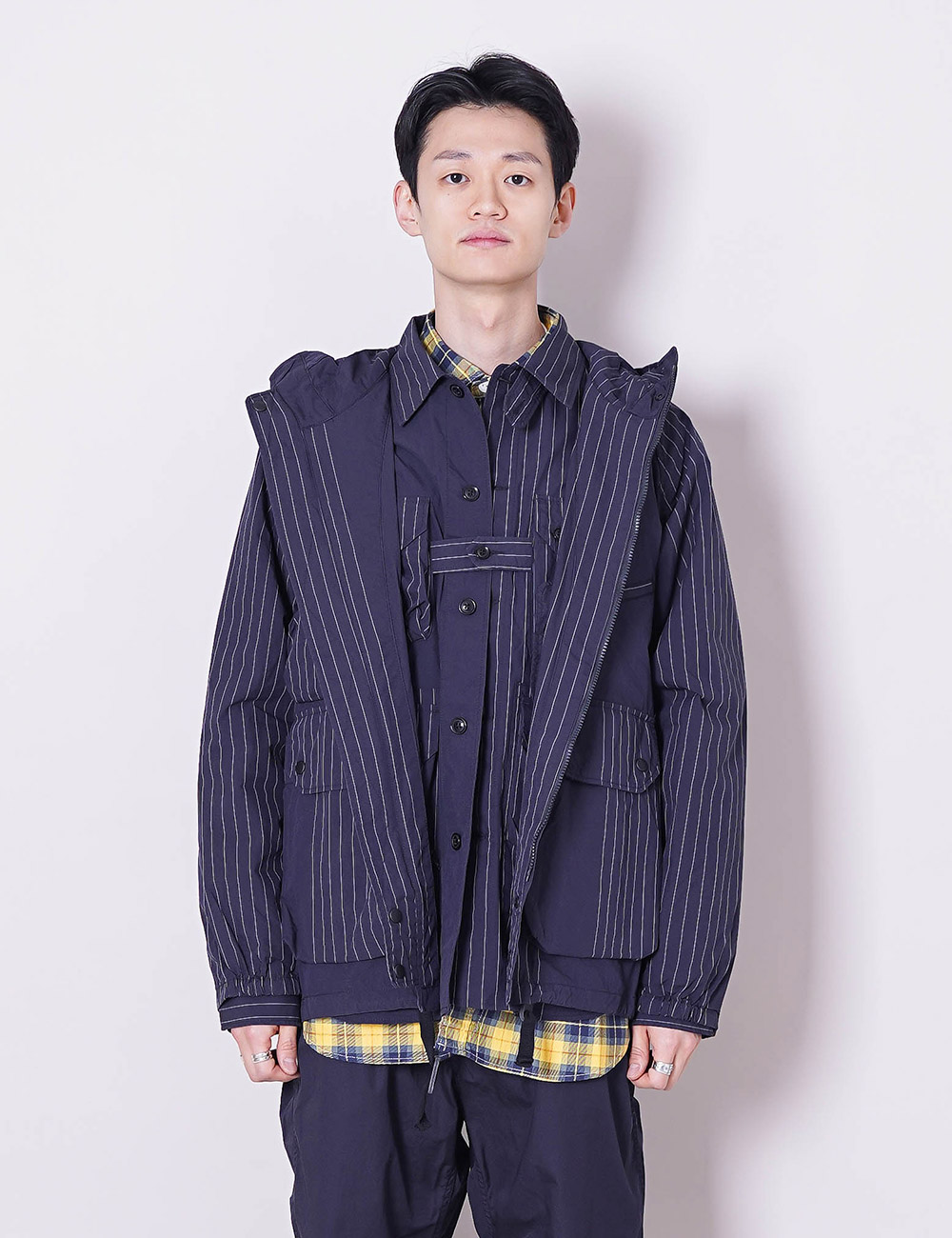 Engineered Garments : ATLANTIC PARKA (DK.NAVY NYCO GANGSTER STRIPE)