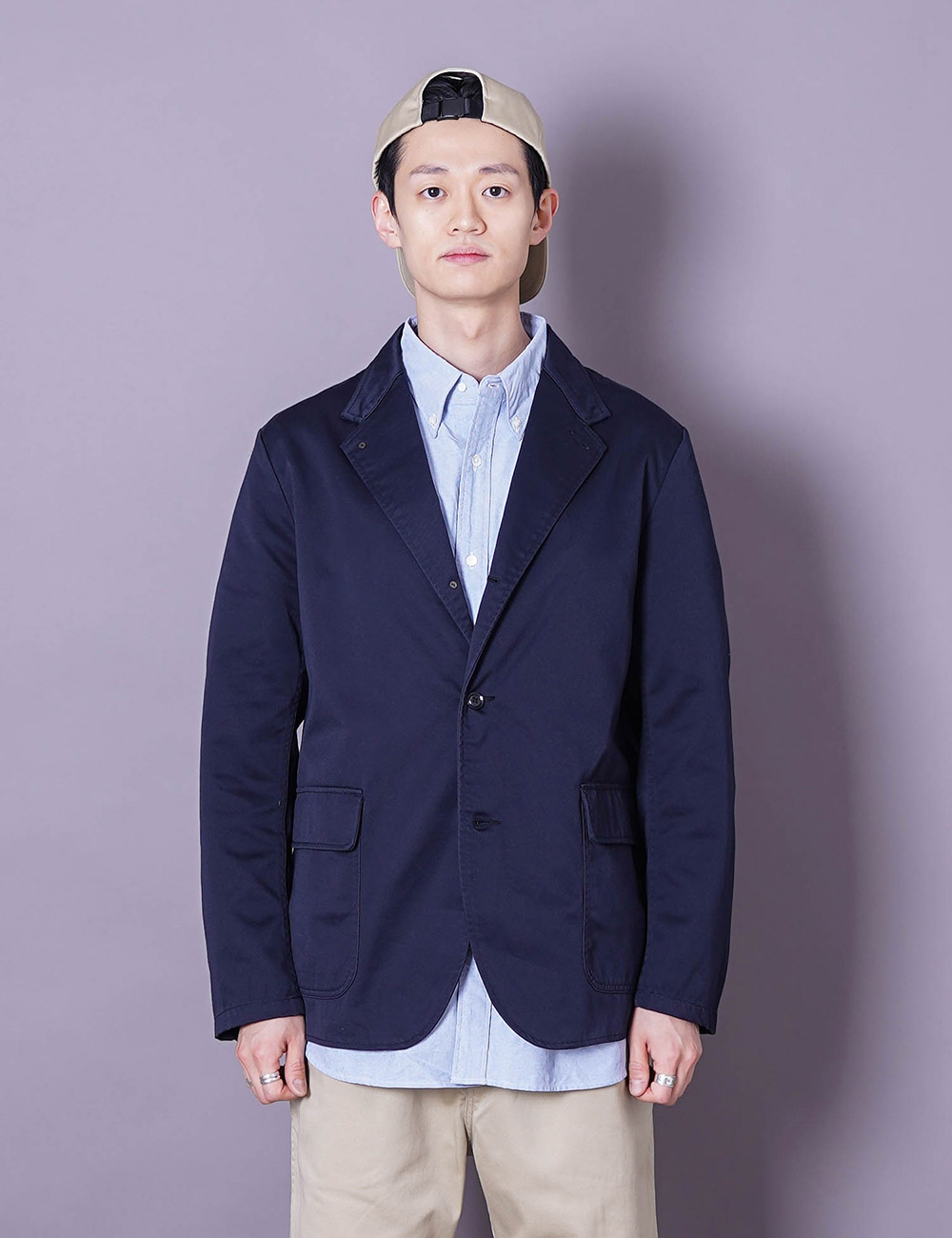 nanamica : CHINO CLUB JACKET (NAVY)