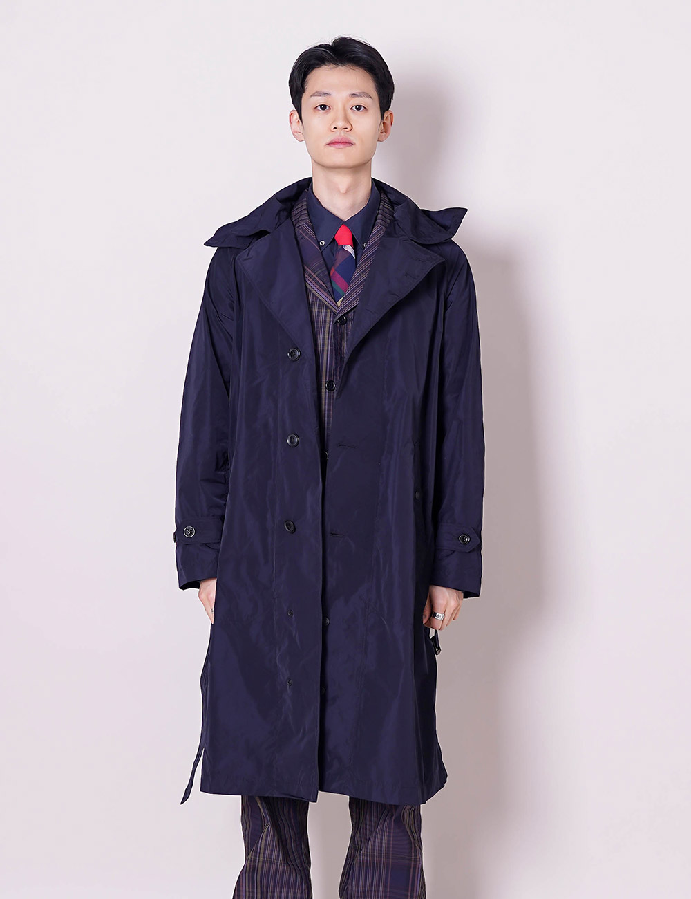 Engineered Garments : DRIZZLER COAT (DK.NAVY MEMORY POLYESTER)