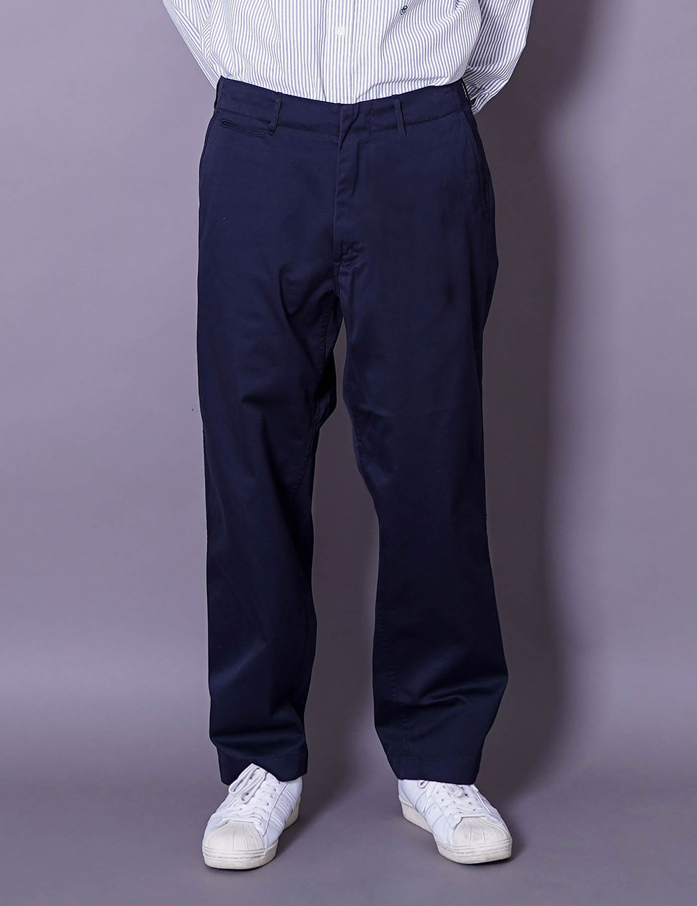 nanamica : WIDE CHINO PANTS (NAVY)