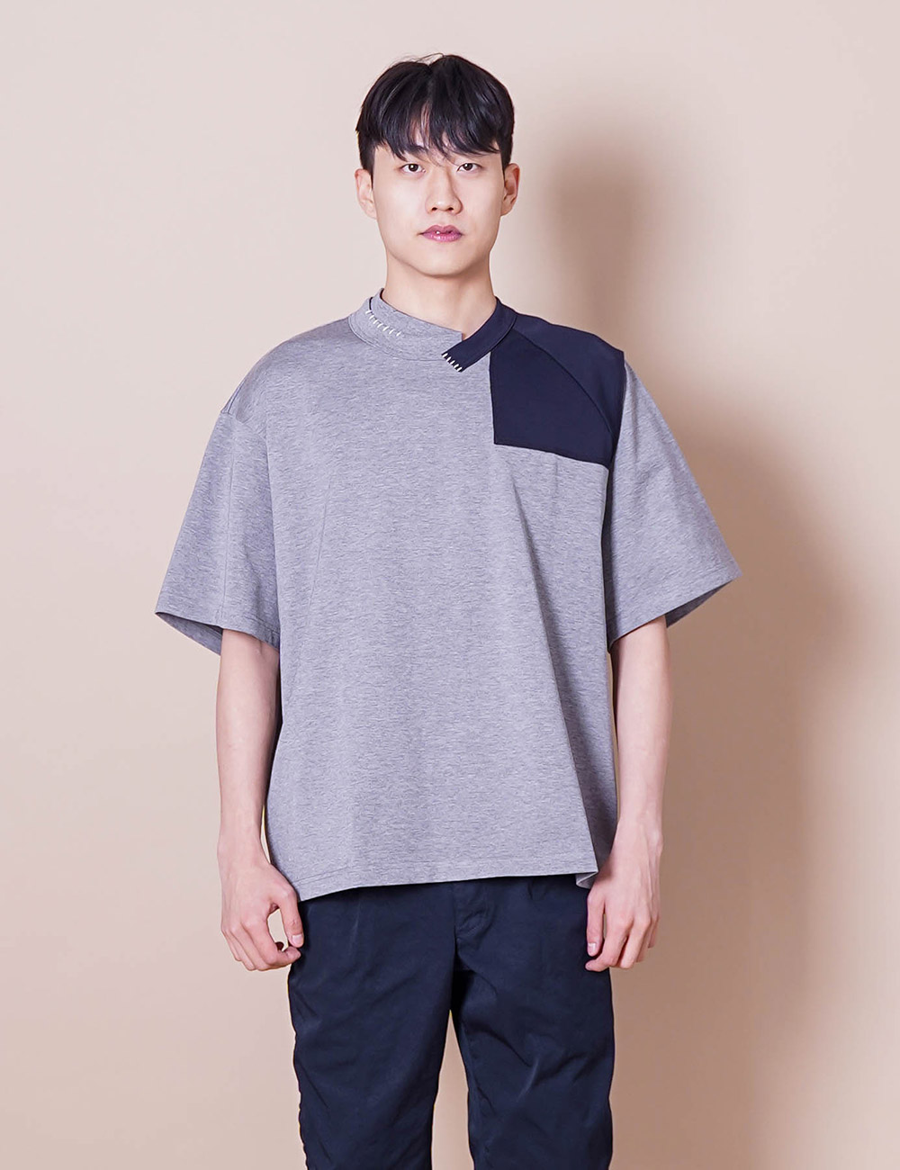 kolor : 21SCM-T04205 DOCKING S/S T-SHIRT (GREY TOP)