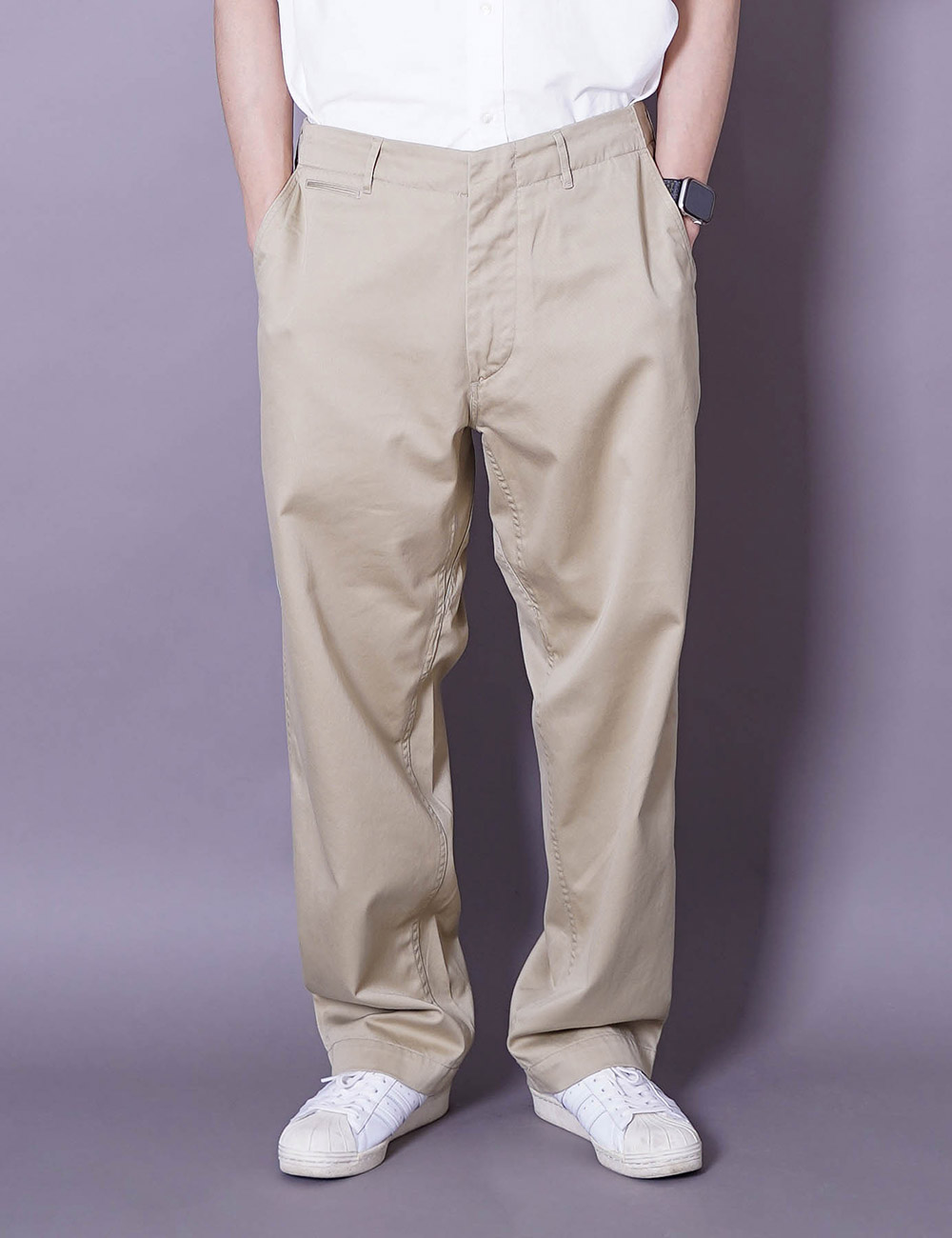 nanamica : WIDE CHINO PANTS (KHAKI)