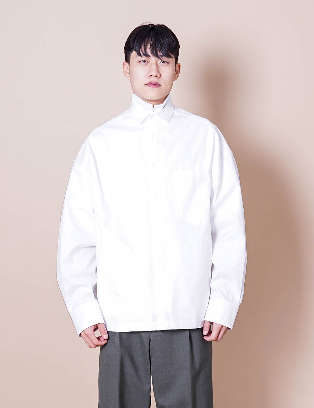 kolor : 21SCM-B04115 BIG REGULLAR COLLAR SHIRT (WHITE)