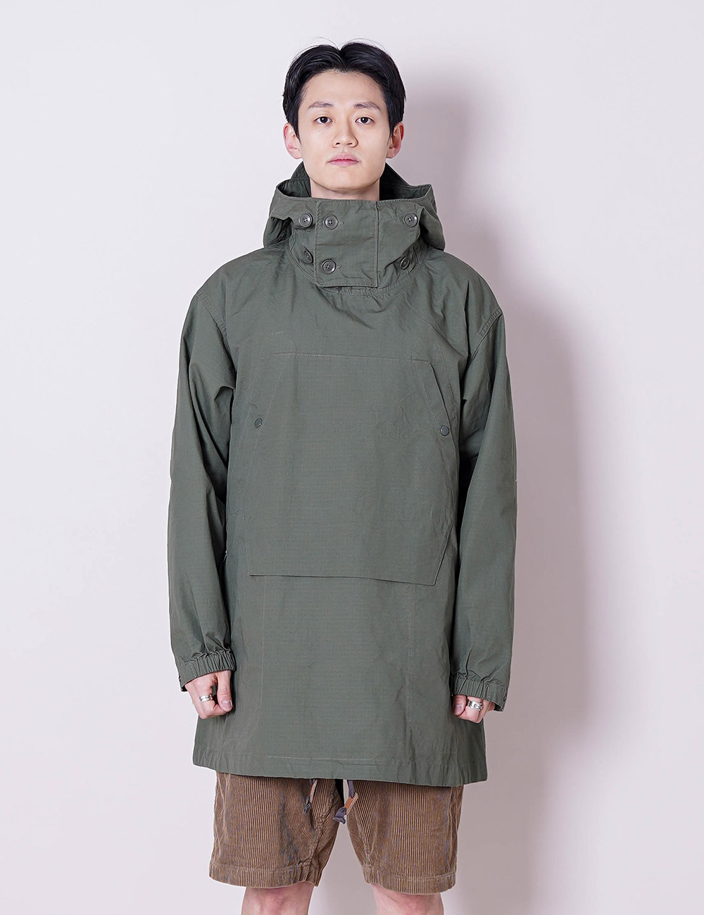 Engineered Garments : OVER PARKA (OLIVE COTTON RIPSTOP)