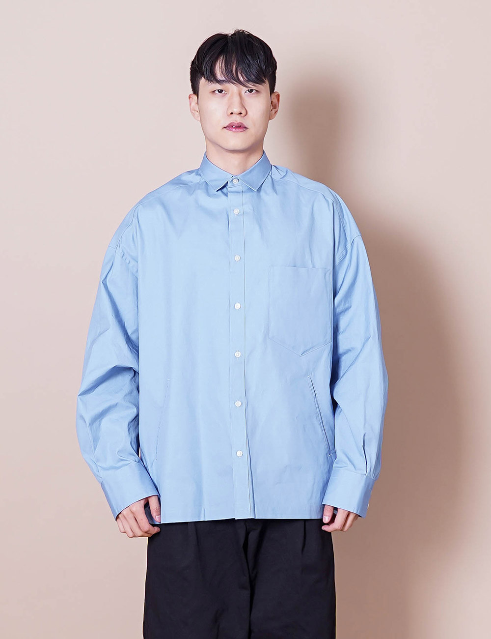 kolor : 21SCM-B04115 BIG REGULLAR COLLAR SHIRT (PALE SAX BLUE)